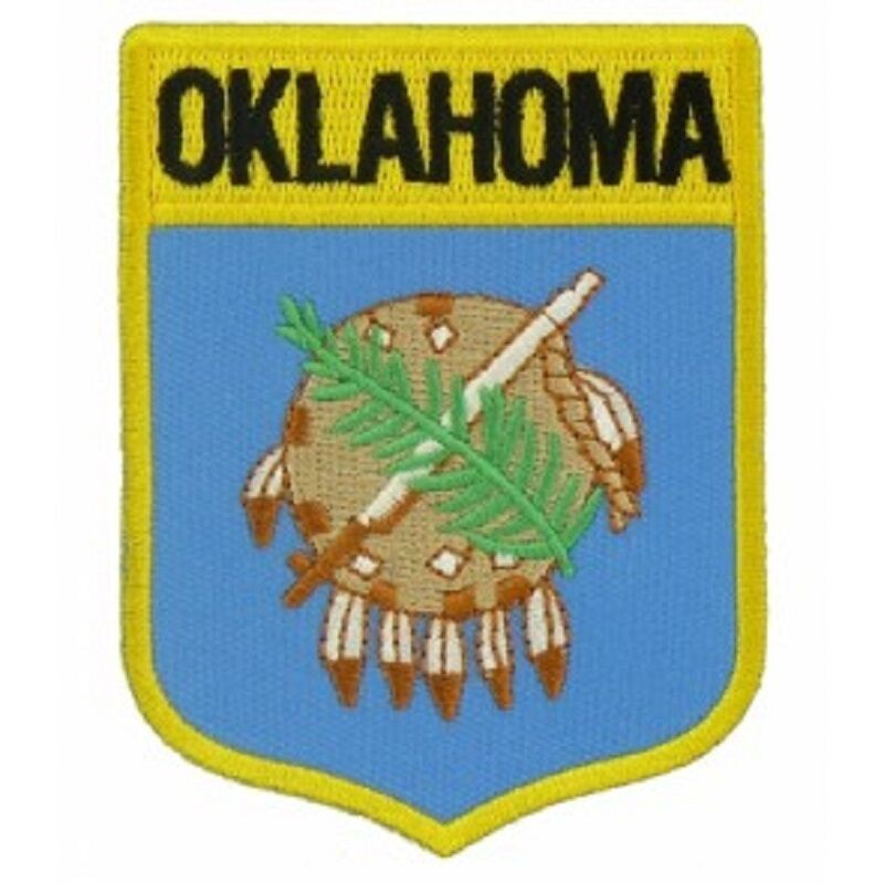 Oklahoma state shield flag embroidered patch iron on