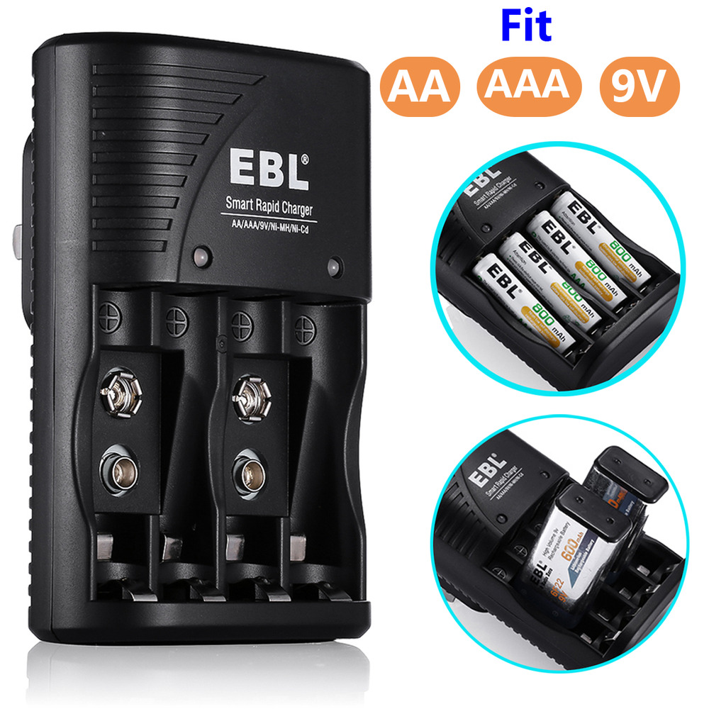 nimh nicd battery charger for 9v aa aaa 9 volt. Black Bedroom Furniture Sets. Home Design Ideas