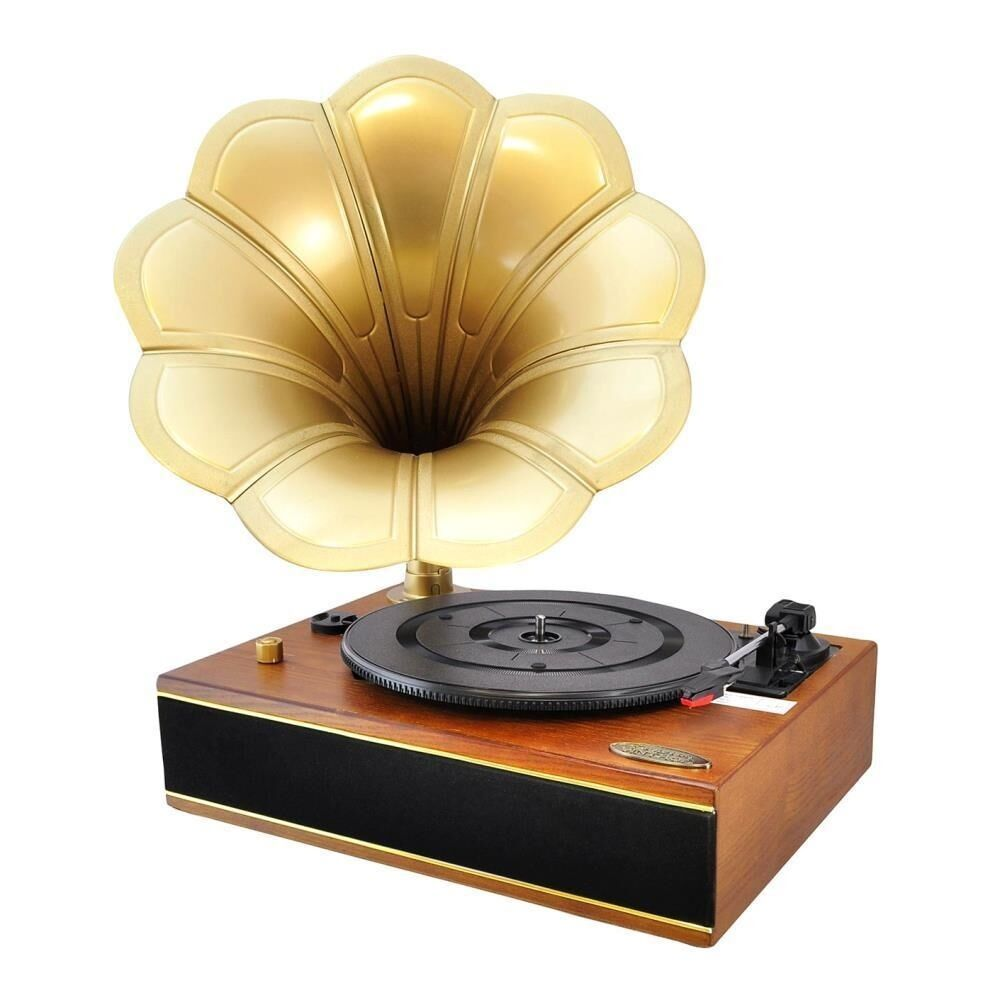 New Pyle Pngtt12rbt Vintage Bluetooth Turntable Gramophone