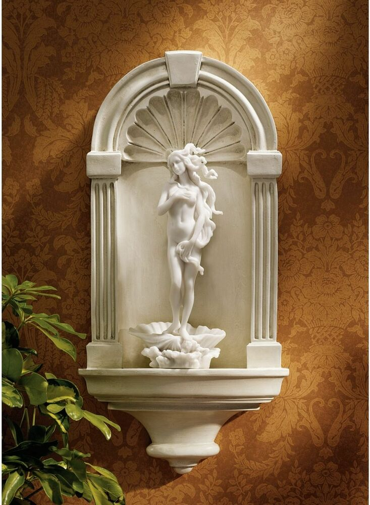 classic european ancient grecian scalloped arch wall niche display shelf medium ebay. Black Bedroom Furniture Sets. Home Design Ideas