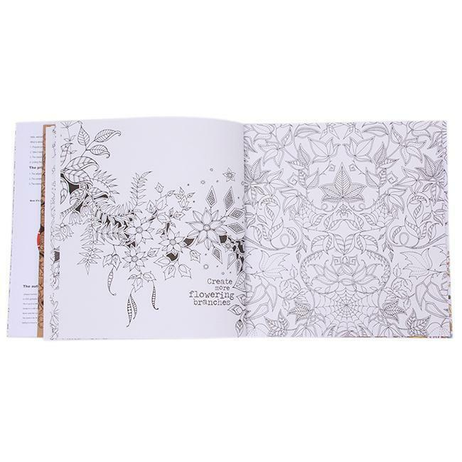 Novelty 20 Pages English Secret Garden Coloring Book For