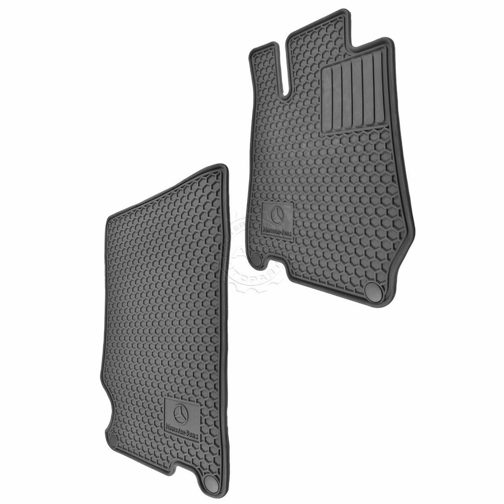 Oem q6680677 logoed all weather rubber floor mat set for for Mercedes benz sl550 floor mats