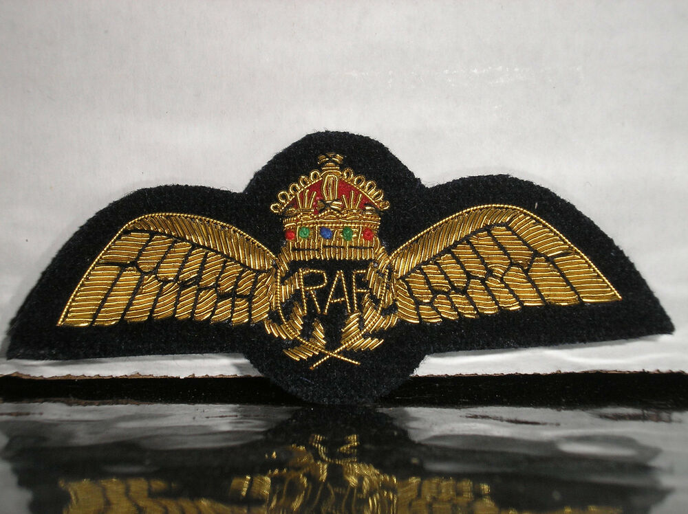 rare bullion embroidered royal air force pilot wings. Black Bedroom Furniture Sets. Home Design Ideas