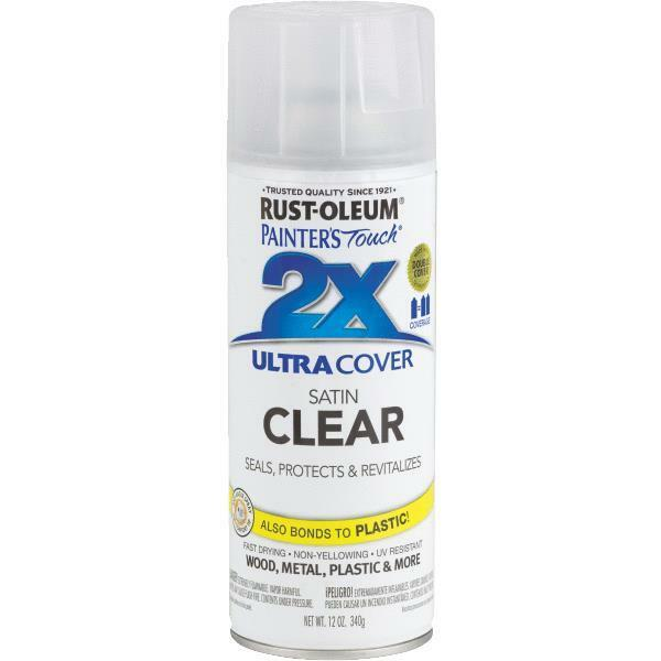6 pk rustoleum painters touch 2x inter exterior clear finish spray paint 249845 ebay Outdoor spray paint