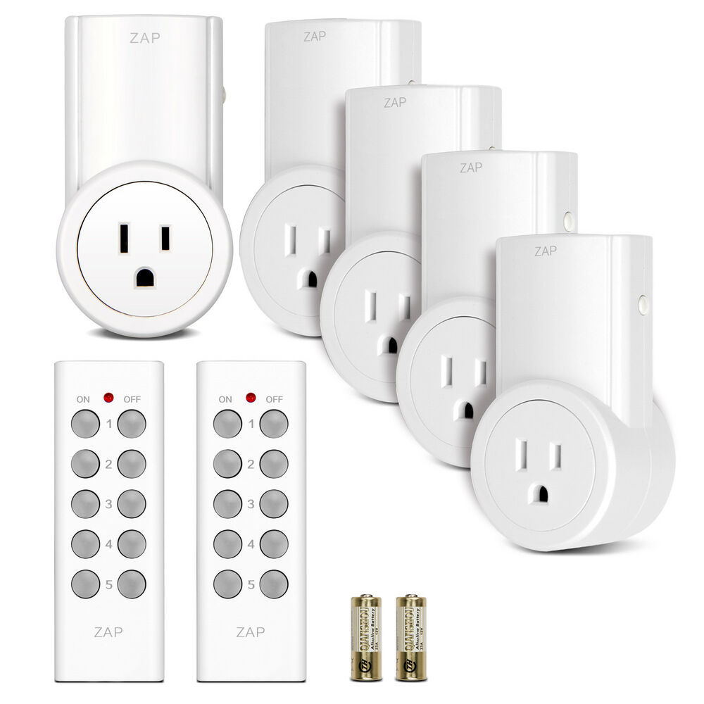 5 Pack Wireless Remote Control Power Outlet Light Switch