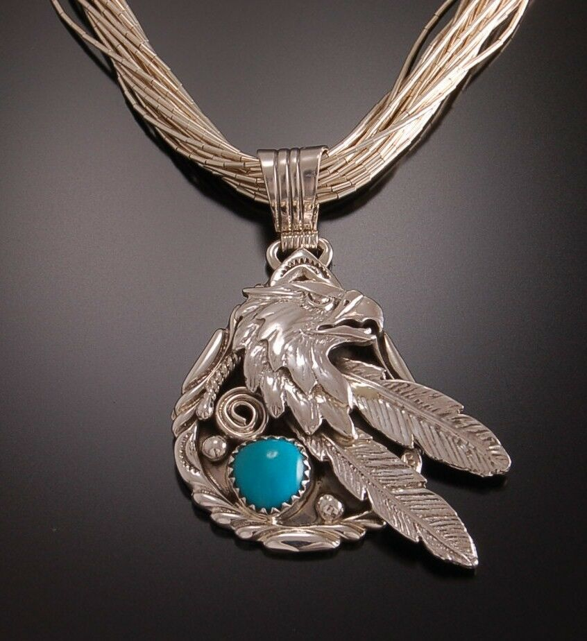 Navajo Eagle And Feathers Turquoise Pendant  Mens Pendant. Best Quality Engagement Rings. Contemporary Earrings. Rosary Beads. Virgo Necklace. Fingerprint Necklace. Surgical Plastic Earrings. Machine Chains. Basic Necklace