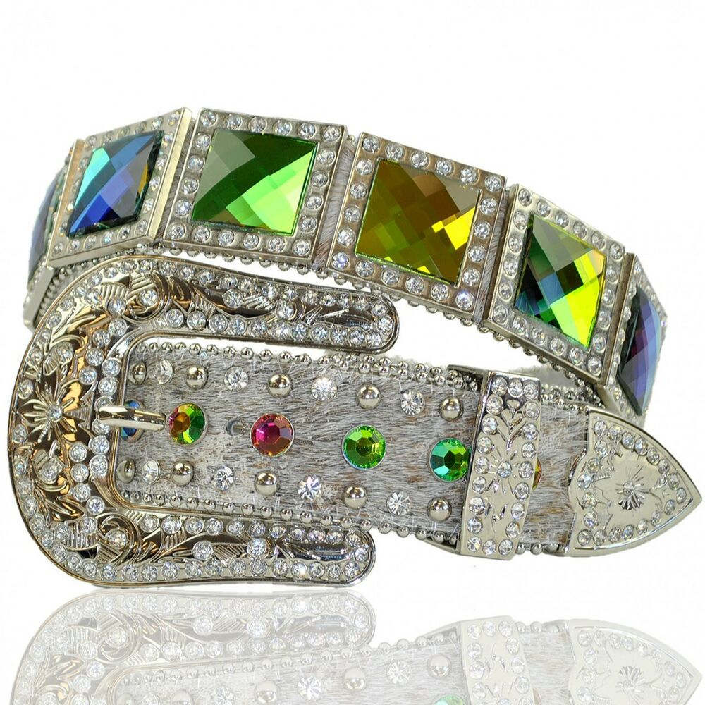 Rhinestone multi color large stone western buckle cowgirl for Wholesale cowgirl bling jewelry