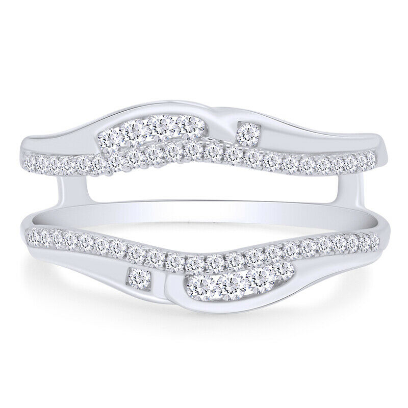 wedding wrap ring solitaire enhancer diamonds ring guard wrap 10k 1220