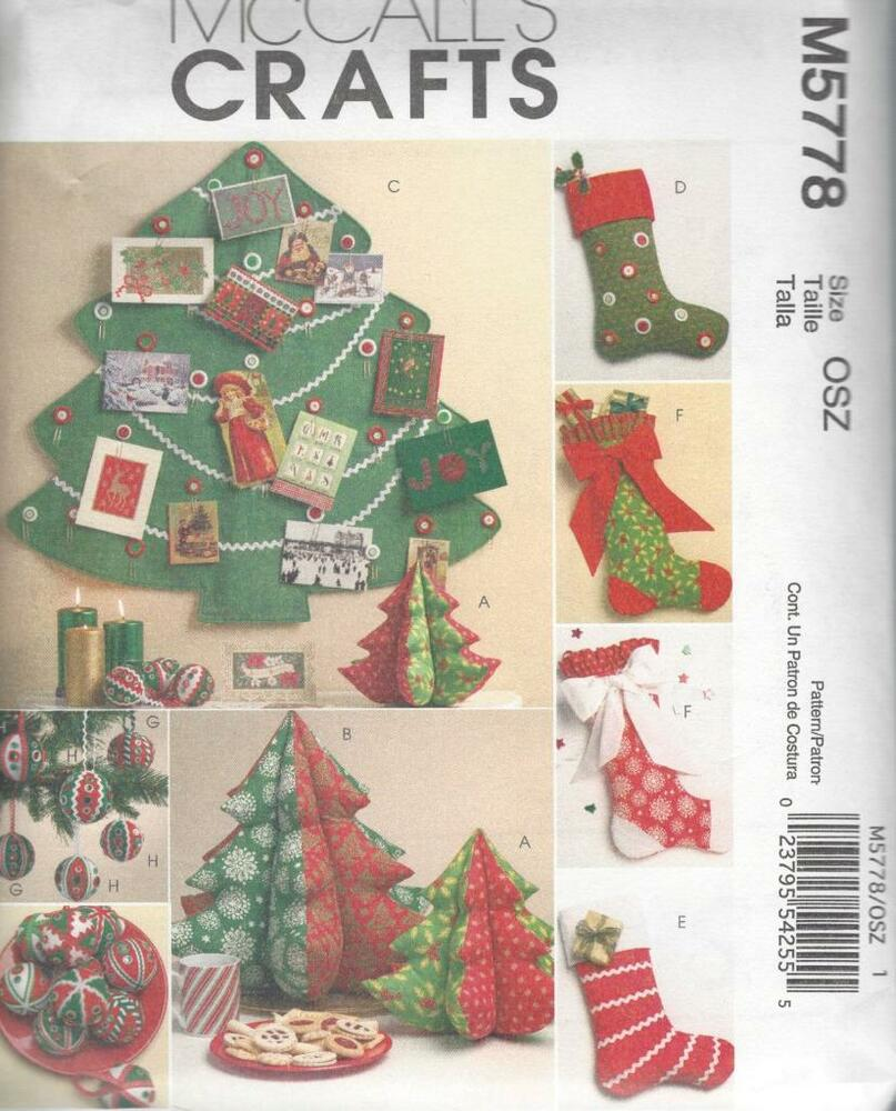 Free Christmas Tree Decoration Sewing Patterns : Mccall s sewing pattern christmas decorations tree