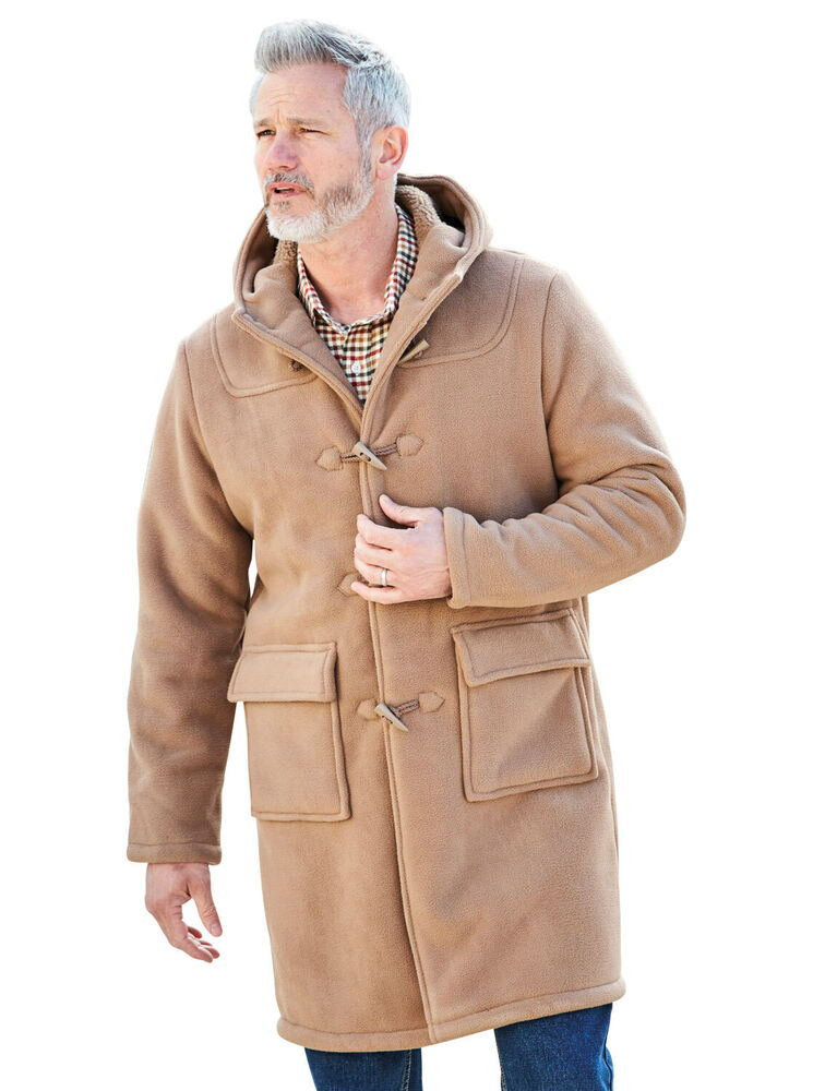 Mens Chums Borg Lined Duffle Coat Jacket Ebay