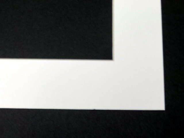 White Matting Mat Board For Picture Frame Pre Cut Opening