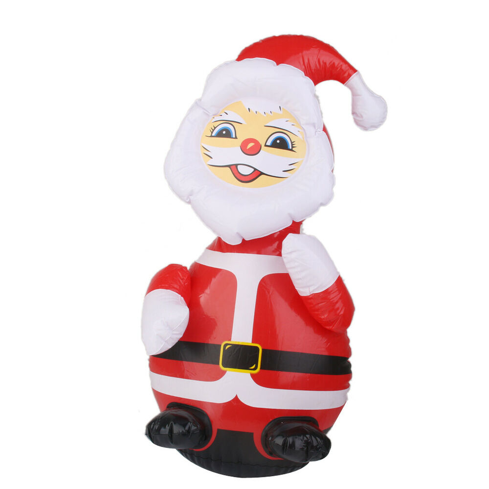 Blow Up Christmas Decorations Santa Claus Figures Inflatable Roly ...