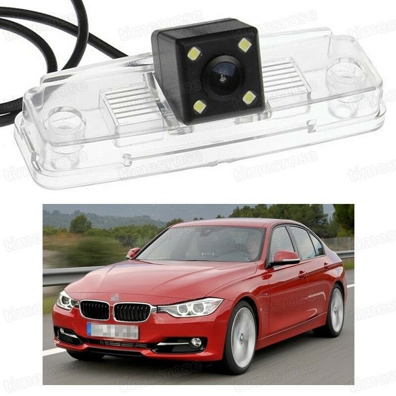 4 LED Car Rear View Camera Reverse Backup CCD For BMW 3
