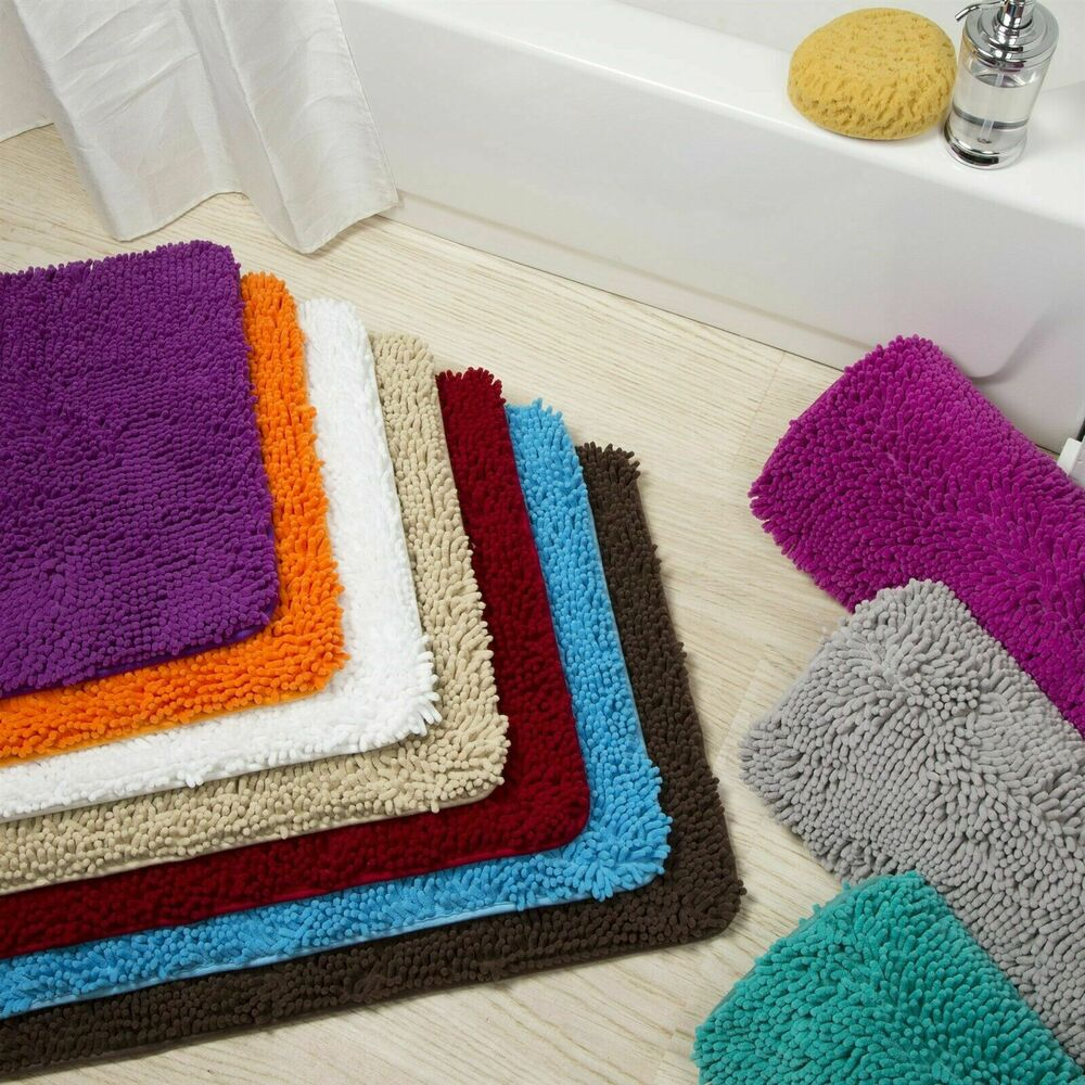 Can Bathroom Rugs Go In The Dryer: Memory Foam High Pile Shag Rug 24 X 60 Bathroom Mat Long