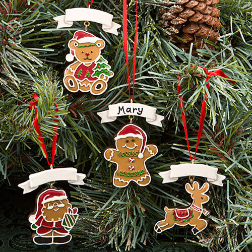 Winter Themed Christmas Decorations: Colorful Gingerbread Themed Holiday Ornaments Christmas