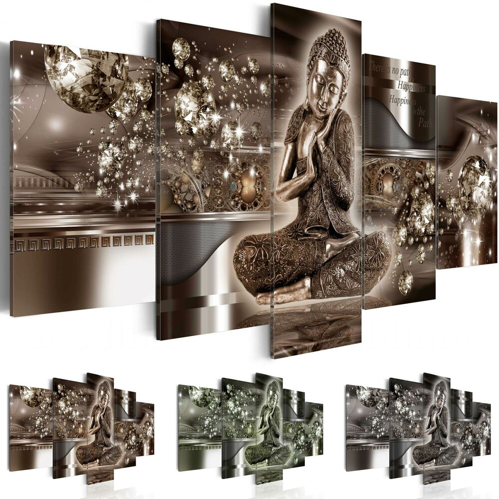 leinwand bilder xxl fertig aufgespannt bild buddha abstrakt h a 0053 b n ebay. Black Bedroom Furniture Sets. Home Design Ideas