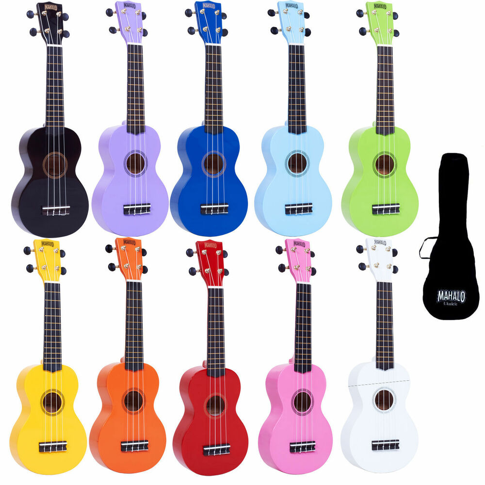 left handed mahalo soprano ukulele uke fitted aquila strings and gig bag ebay. Black Bedroom Furniture Sets. Home Design Ideas