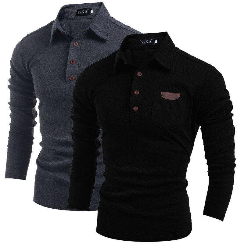 Hot mens stylish slim fit casual fashion t shirts polo for Tahari t shirt mens