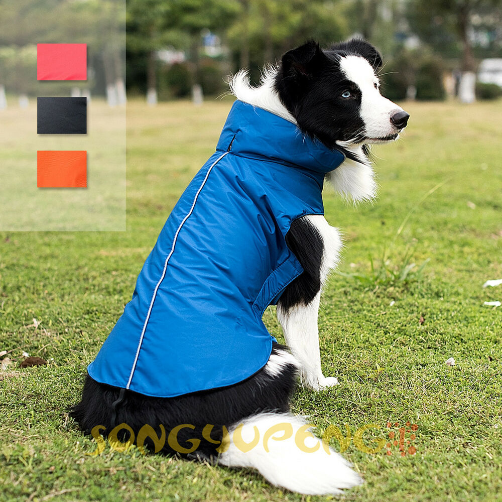 Dog Winter Waterproof Warm Fleece Jacket Coats Vest ...