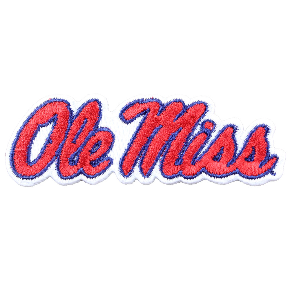 Ole Miss Rebels Primary Team Logo Embroidery Iron On Patch Hat