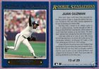 1992 Fleer Rookie Sensations Juan Guzman Toronto Blue Jays #13 Single