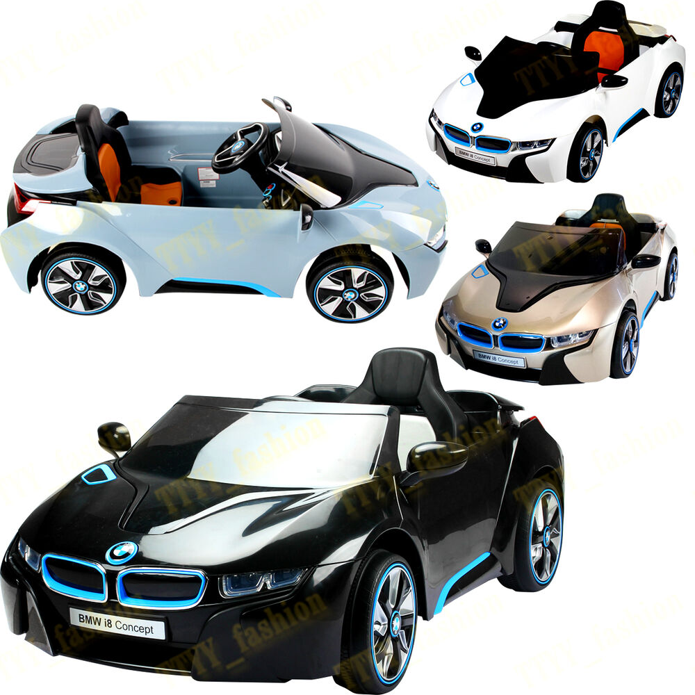 Bmw I8 12v Electric Ride On With Remote Control: NEW LICENSED BMW I8 NEW DESIGN 12V TWIN MOTOR KIDS RIDE ON