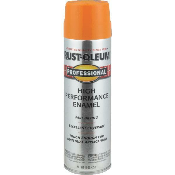 3 pk safety orange rustoleum professional industrial for Spray paint safety