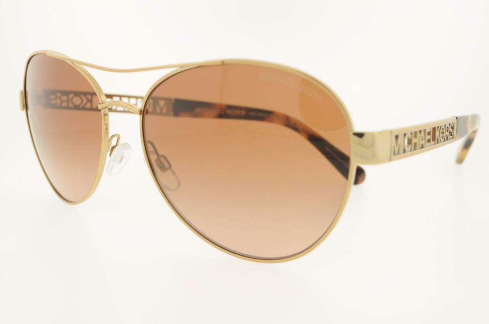 Michael Kors Gold Frame Sunglasses : MICHAEL KORS MK 5003 100413 60MM CAGLIARI GOLD FRAME BROWN ...