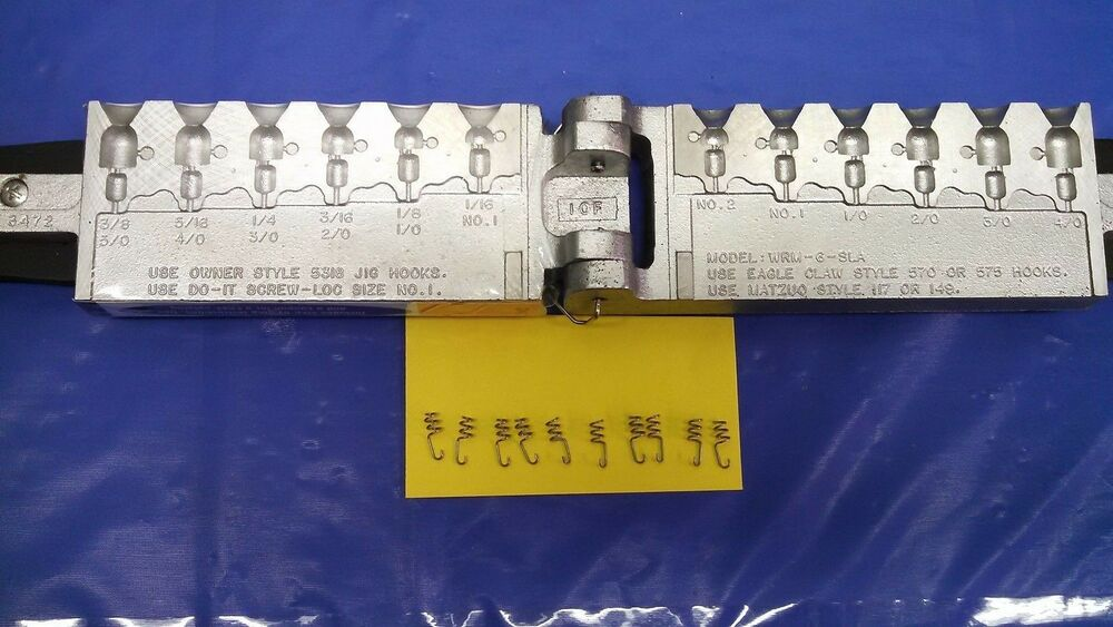 Details About 3472 New Do It Worm Nose Jig Mold T W 10 Free Loc Pcs Wrm 6 Sla