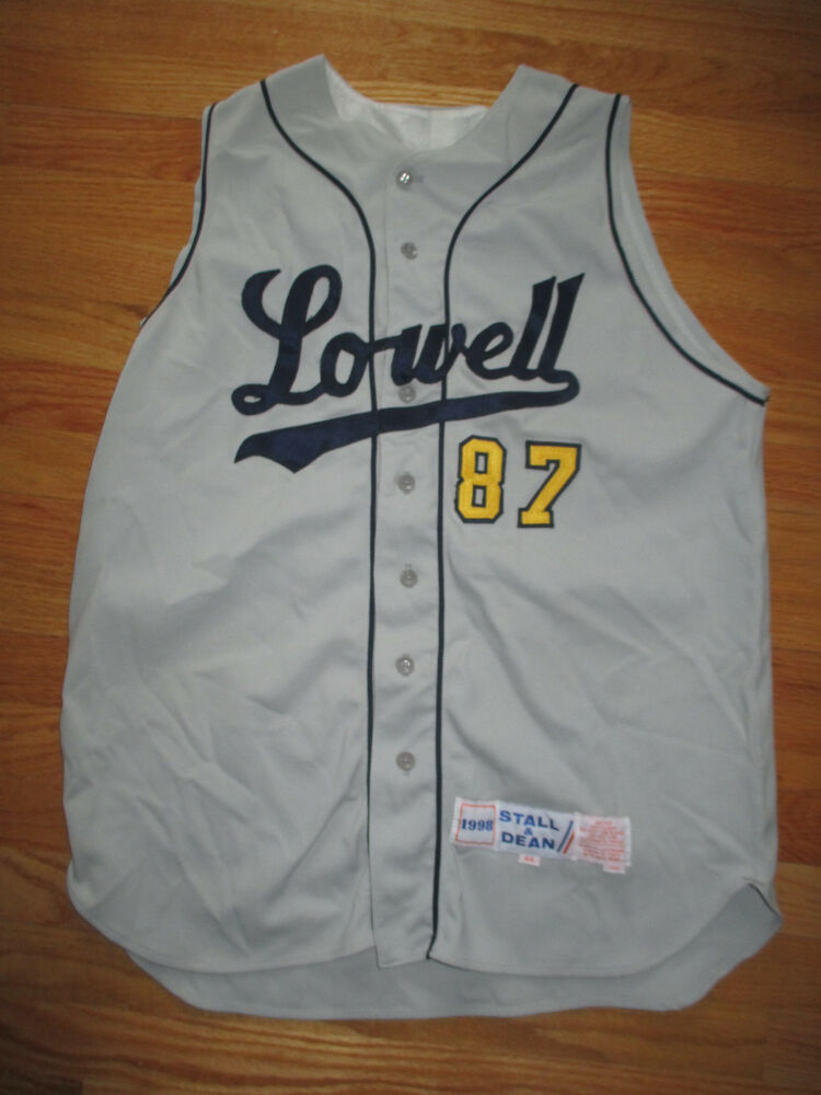55afd1c422b 1998 Stall   Dean LOWELL No 87 Baseball Game Used (Size 44) Sleeve Less  Jersey