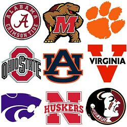 NCAA College Team Large Wall Accent - League Sports Stickers Decal Set Applique