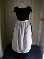 ADULTS VICTORIAN COSTUME SKIRT  APRON  MOP HAT 12/16  POST FREE one size