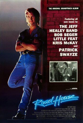 roadhouse patrick swayze movie poster 24x36 ebay