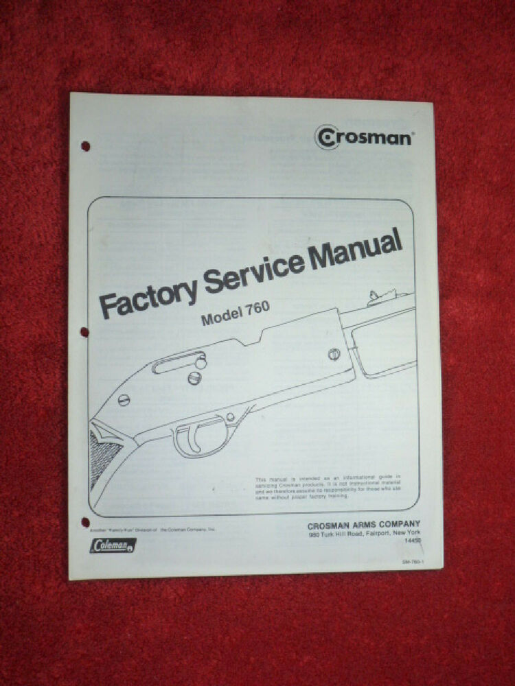 Crosman 760 Factory Service Manual With Two  2  Exploded