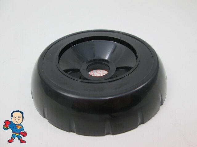 Spa hot tub diverter cap 3 3 4 wide black notched for How wide is a tub
