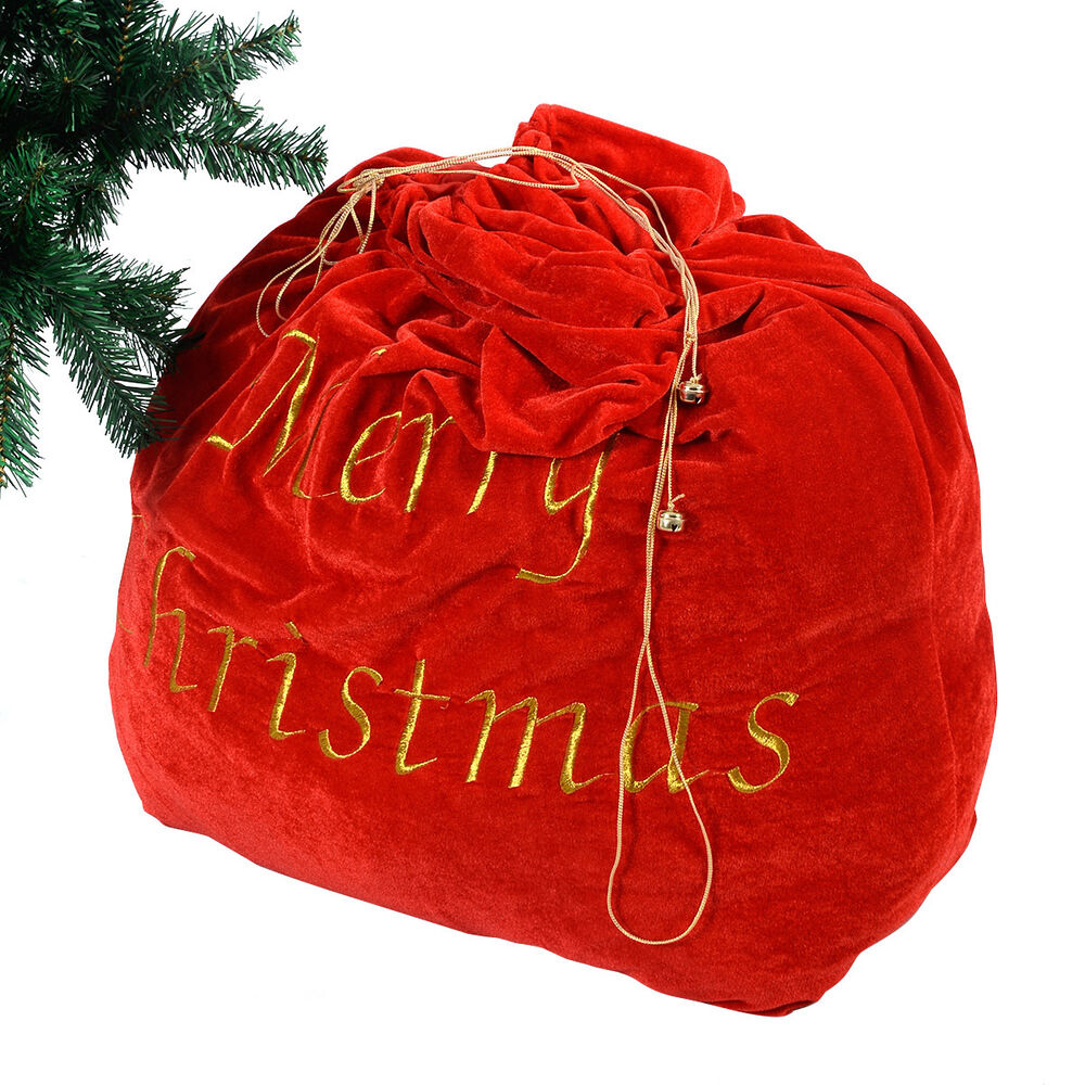 Christmas decoration santa claus gift bag candy party