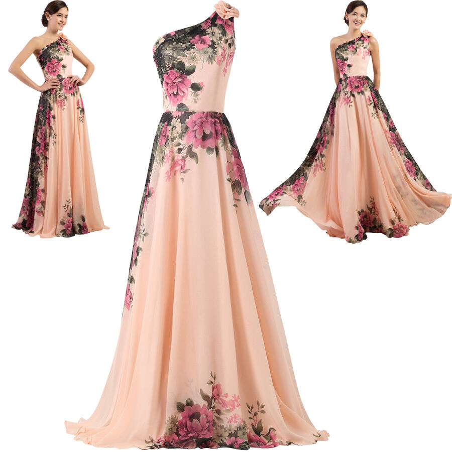 New long chiffon bridesmaid evening formal party ball gown for Evening gown as wedding dress