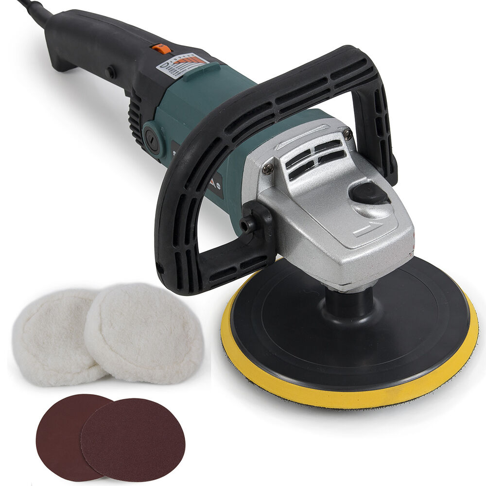"""New 7"""" Electric Variable Speed Car Polisher Buffer Waxer"""