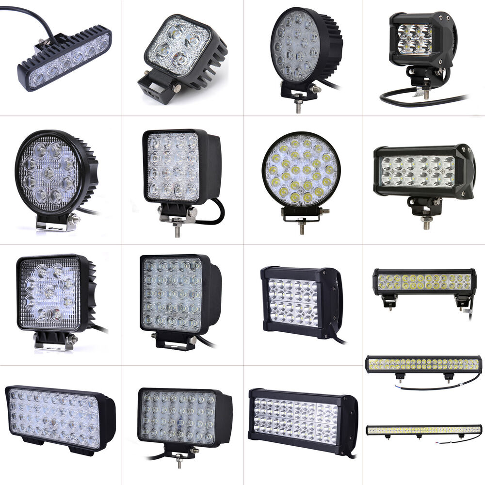 12v 24v led arbeitsscheinwerfer offroad scheinwerfer 36w 48w 72w 96w 126w 234w ebay. Black Bedroom Furniture Sets. Home Design Ideas