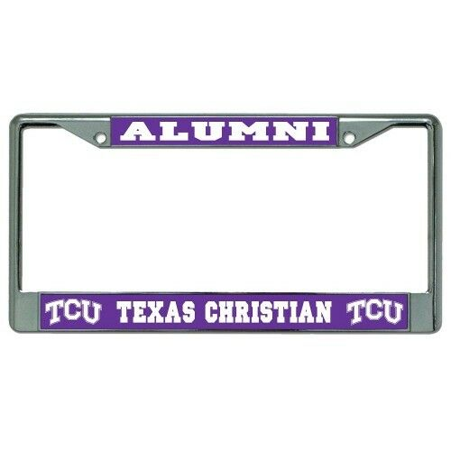 Tcu Texas Christian Alumni Logo Metal License Plate Frame