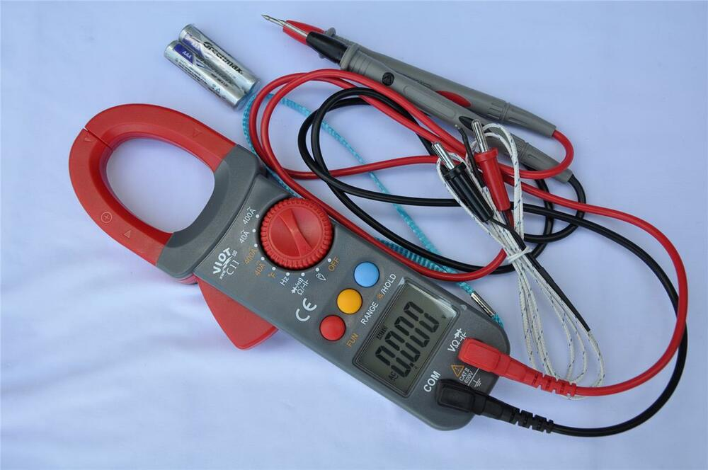 Ac Dc True Rms Clamp Meter Ammeter Dmm Capacitor Tester