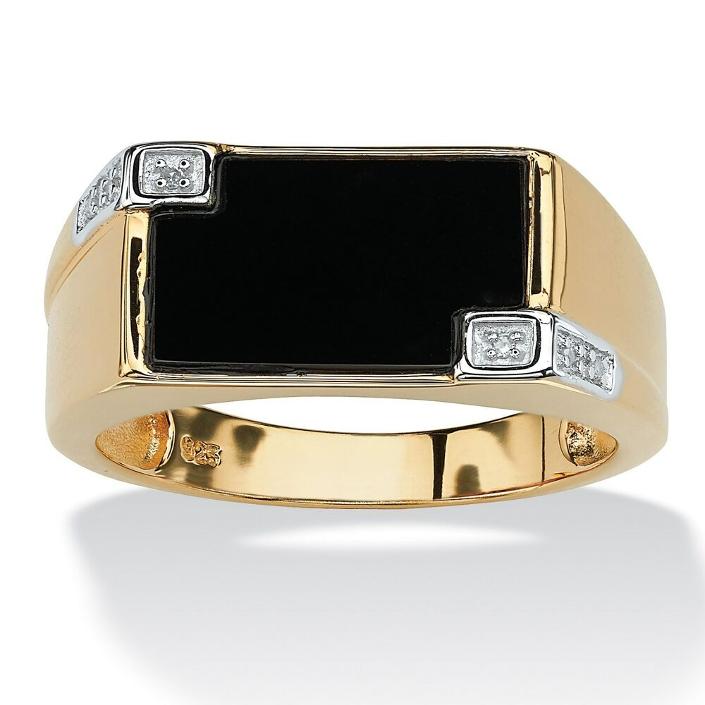 Square Gold Ring Mens