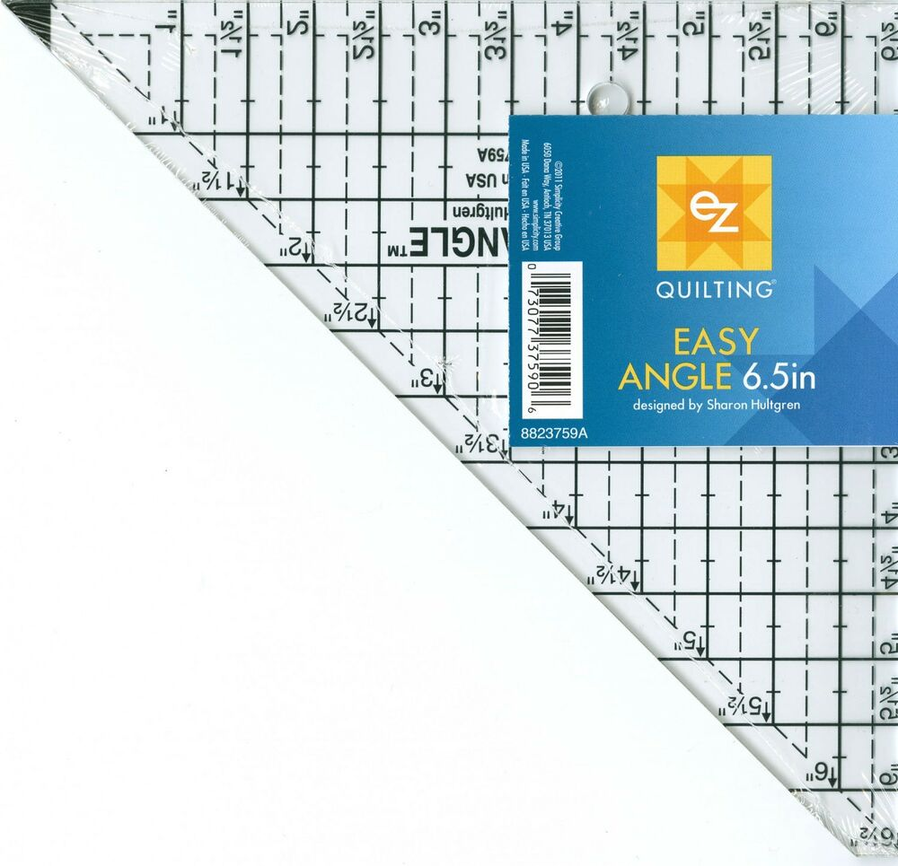 Ez Quilting Easy Angle Ruler Up To 6 5 In Rotary Cutter