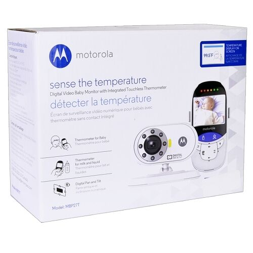 motorola mbp27t wireless video baby monitor thermometer night vision camera ebay. Black Bedroom Furniture Sets. Home Design Ideas