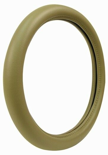 Ultra Soft Car Fender Covers: Universal Ultra-Soft Touch Leather Tan Steering Wheel