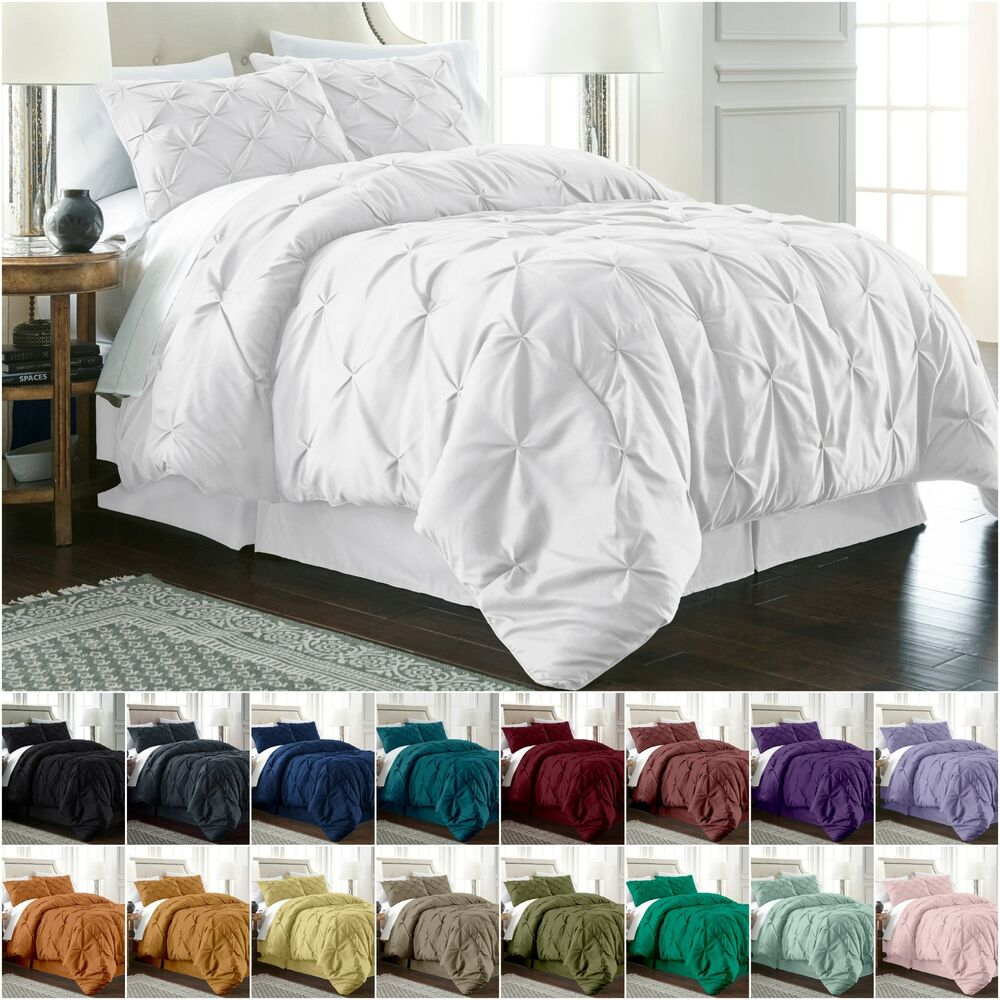 Chezmoi Collection Berlin Pinch Pleat Pintuck Bedding