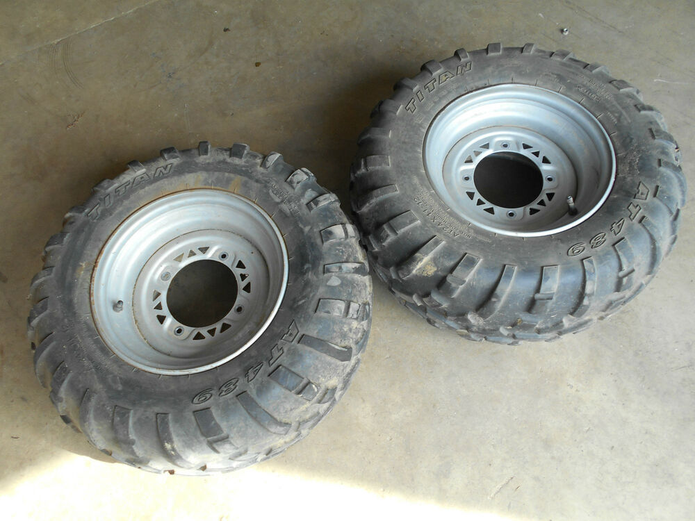 Polaris Scrambler 500 >> polaris sportsman 500 400 rear back tires rims wheels magnum 325 600 xpedition | eBay
