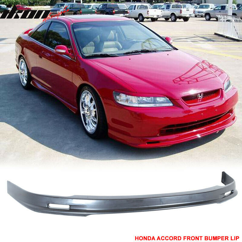 98 00 Honda Accord 2dr Coupe Mugen Style Front Bumper Lip