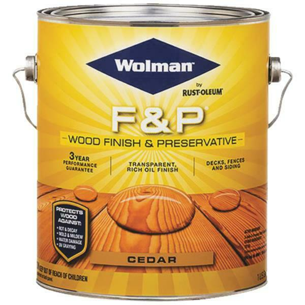 Wolman 1 Gal F And P Natural Exterior Wood Stain Finish: 1 Gal Wolman F&P Flat Cedar Fence Deck Siding Wood Finish