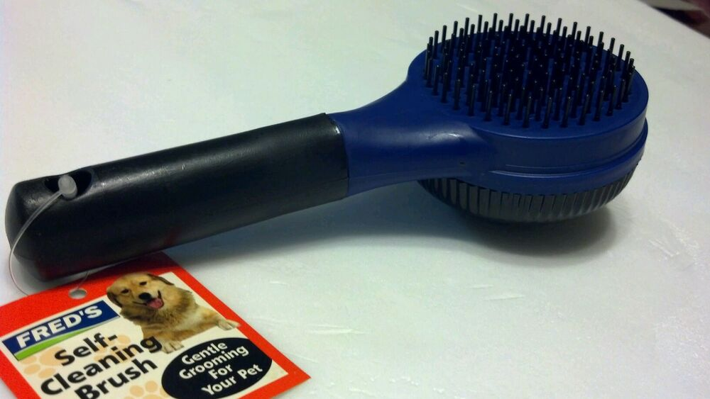 Dog Cat Pet Grooming Self Cleaning Slicker Brush Comb Hair